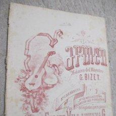 Partituras musicales: CARMEN, MÚSICA DE BIZET, ARREGLADAS PARA PIANO POR FELIPE VILLANUEVA, MÉXICO. Lote 239755360