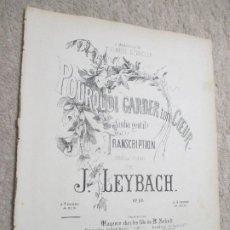 Partituras musicales: POURQUOI GARDER TON COEUR, GIULIA GENTI, TRANSCRIPCIÓN PARA PIANO POR J. LEYBACH. Lote 239759315