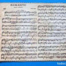 Partitions Musicales: ANTIGUA PARTITURA MÚSICA PARA PIANO. MANILA - ROMANTIC. VALS LENTO DE JOSE MORA. Lote 241009500