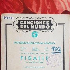 Partitions Musicales: PARTITURA PARA VIOLÍN. PIGALLE DE GEORGES ULMER Y PORTEÑA NO NACE CUALQUIERA. Lote 241097670