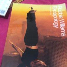 Partituras musicales: PARTITURA ROBBIE WILLIAMS ESCAPOLOGY CD ALBUM PIANO VOICE VOZ GUITAR GUITARRA SINGLE MAXI APRENDER. Lote 243305730