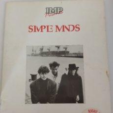 Partituras musicales: LIBRITO DE PARTITURA DE CANCIONES DE SIMPLE MINDS. Lote 243830550