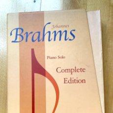 Partitions Musicales: PARTITURAS PIANO BRAHMS EDICIÓN COMPLETA DE PIANO ED. URTEXT. Lote 243844055