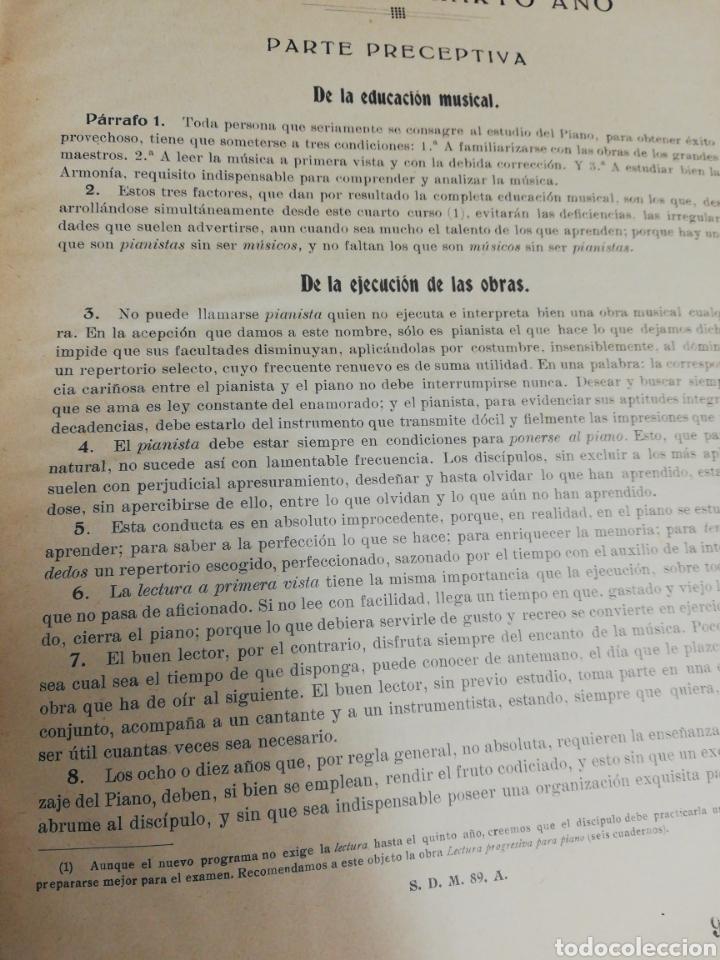 Partituras musicales: Estudios para piano. Encuafernado tapa dura.Escuela elemental de piano. Dividida en 5 volúmenes. - Foto 8 - 243991925