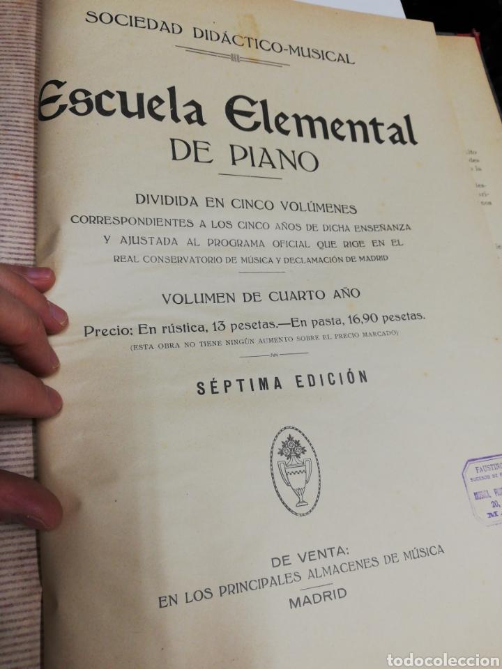 Partituras musicales: Estudios para piano. Encuafernado tapa dura.Escuela elemental de piano. Dividida en 5 volúmenes. - Foto 11 - 243991925