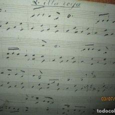 Partituras musicales: L HILLA ROIJA PARTITURA MANUSCRITA CIRCA SIGLO XIX FINALES 4 PAGIBAS EN DOS PLANAS. Lote 244412850