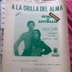 Partituras musicales: LOTE PARTITURAS SERGIO Y ESTÍBALIZ MOCEDADES SERGIO BLANCO ESTÍBALIZ URGANGA EUROVISION LP CD SINGLE. Lote 244429485
