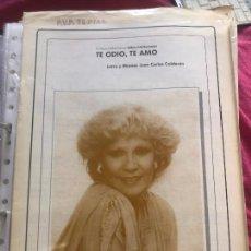 Partituras musicales: LOTE 2 PARTITURAS MIRLA CASTELLANOS CASTELLANO MALDITO AMOR TE ODIO TE AMO CD LP SINGLE CASETE. Lote 244430675