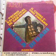 Partituras musicales: LOTE 2 PARTITURAS NICOLA DI BARI DIBARI LP SINGLE CD FESTIVAL DE SAN REMO SANREMO EN ESPAÑOL ITALIA. Lote 244431950