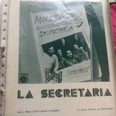 Partituras musicales: LOTE PARTITURAS PARTITURA MOCEDADES AMAYA URANGA AMAIA SERGIO Y ESTÍBALIZ LP SINGLE CD EUROVISION. Lote 266043168