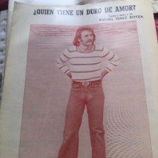 Partituras musicales: LOTE 2 PARTITURAS PARTITURA PABLO ABRAIRA LP CD SINGLE CASETE RAFAEL PÉREZ BORTIJA GUITARRA PIANO. Lote 244433710