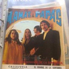 Partituras musicales: LOTE 2 PARTITURAS PARTITURA THE MAMAS AND THE PAPAS LP CD SINGLE MAMA CASS ELLIOT ELLIOTT ALBUM. Lote 244434215