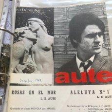 Partituras musicales: LOTE PARTITURAS PARTITURA LUIS EDUARDO AUTE LP CD SINGLE LIBRO CASETE GUITARRA PIANO MASSIEL MAXI. Lote 244434495