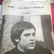 Partituras musicales: LOTE PARTITURAS PARTITURA CANTANTE LEANDRO SÁNCHEZ RUIZ ME GUSTARÍA LP SINGLE CD MANOLO DÍAZ CECILIA. Lote 244435025