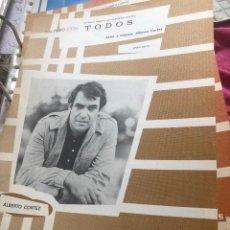 Partituras musicales: LOTE PARTITURA PARTITURAS ALBERTO CORTEZ LP SINGLE CD CORTES MINA JOSÉ LUIS PERALES GUITARRA PIANO. Lote 244435505