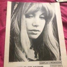 Partituras musicales: LOTE PARTITURAS PARTITURA CANTANTE KARINA MARIBEL LLAUDES SANTIAGO FESTIVAL DE EUROVISION 1971 CD. Lote 244462655