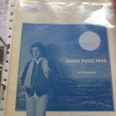 Partituras musicales: LOTE PARTITURAS PARTITURA ANA BELÉN Y VÍCTOR MANUEL LP CD SINGLE DVD PELÍCULA AL DIABLO CON EL AMOR. Lote 244464435