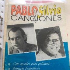 Partituras musicales: PARTITURA PARTITURAS LIBRO LIBRITO PABLO Y SILVIO CANCIONES PABLO MILANÉS SILVIO RODRÍGUEZ LP CD. Lote 244465530