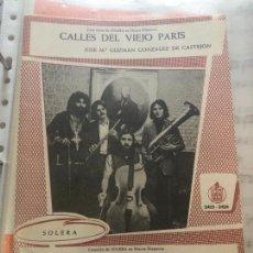 Partituras musicales: PARTITURA PARTITURAS GRUPO SOLERA 1973 CÁNOVAS RODRIGO ADOLFO Y GUZMAN CRAG RODRIGO GARCIA BLANCA LP. Lote 244467575
