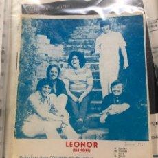 Partituras musicales: PARTITURA PARTITURAS GRUPO MUSICAL THE TURTLES LEONOR ELENORE LOS DE TAURO TAMARA LP CD SINGLE VHS. Lote 244467965
