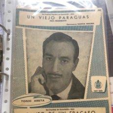 Partituras musicales: PARTITURA PARTITURAS TONIO ARETA ANTONIO ARETA LP CD SINGLE FESTIVAL DE EUROVISION 1962 LLAMAME. Lote 244468340