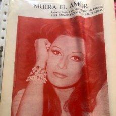Partiture musicali: PARTITURA PARTITURAS ROCÍO JURADO MUERA EL AMOR LP CD SINGLE DVD PIANO GUITARRA COMO UNA OLA CASETE. Lote 244469340