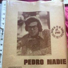 Partiture musicali: PARTITURA PARTITURAS CANTANTE ARGENTINO PIERO DE BENEDICTIS PEDRO NADIE MI VIEJO SINGLE LP CD ROCK. Lote 244469645