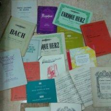 Partituras musicales: LOTE DE PARTITURAS PIANO, SOLFEO, EJERCICIOS, ESCALAS, ARPEGIOS, ROYAL SCHOOL MUSIC,MOZART,BEETHOVEN. Lote 244504585