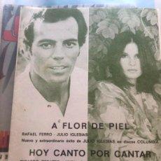 Partituras musicales: PARTITURA LIBRO PARTITURAS JULIO IGLESIAS NYDIA CARO LP CD SINGLE FOTOGRAFÍA DVD A FLOR DE PIEL VHS. Lote 266042958
