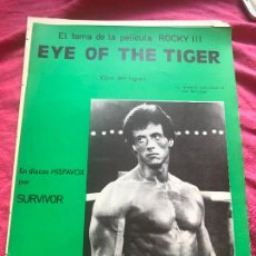 Partituras musicales: PARTITURA EYE OF THE TIGER ROCKY III SYLVESTER STALLONE LP CD SINGLE SURVIVOR DVD LIBRO BLU RAY CINE. Lote 244529510