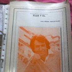 Partituras musicales: PARTITURA PARTITURAS JOSÉ LUIS PERALES ELLA Y EL LP CD SINGLE CASETE FOTOGRAFÍA MIS CANCIONES DVD. Lote 244530165