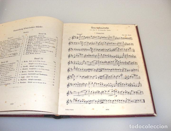 Partituras musicales: ANTIGUAS PARTITURAS PARA VIOLÍN, ENCUADERNADAS - FINAL SXIX, PRINCIPIOS SXX.- VER FOTOS CON ÍNDICE. - Foto 3 - 244636790