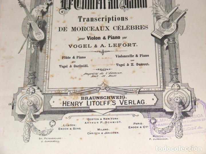 Partituras musicales: LE CONCERT AU SALON - PARTITURAS PARA VIOLÍN Y PIANO ENCUADERNADAS - FINAL SXIX, PRINCIPIOS SXX. - Foto 4 - 244664200