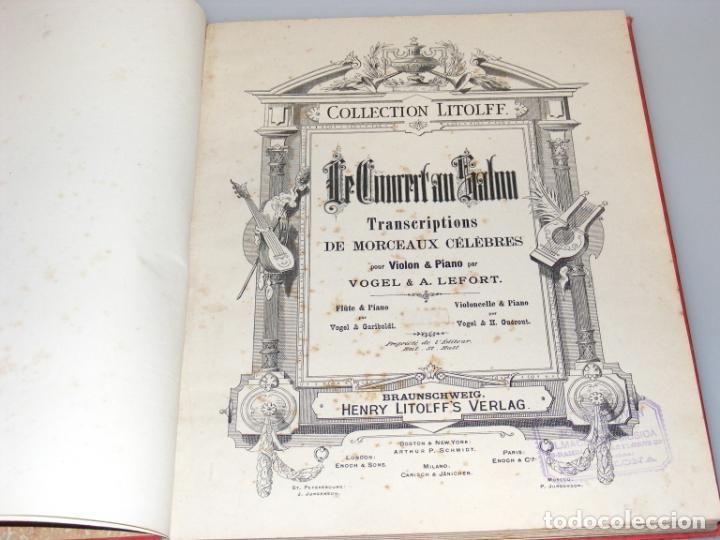 LE CONCERT AU SALON - PARTITURAS PARA VIOLÍN Y PIANO ENCUADERNADAS - FINAL SXIX, PRINCIPIOS SXX. (Música - Partituras Musicales Antiguas)