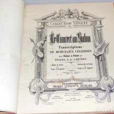 Partituras musicales: LE CONCERT AU SALON - PARTITURAS PARA VIOLÍN Y PIANO ENCUADERNADAS - FINAL SXIX, PRINCIPIOS SXX.. Lote 244664200