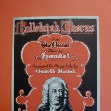Partituras musicales: HALLELUJAH CHORUS MUSIC BY HANDEL - 1942. Lote 244761220