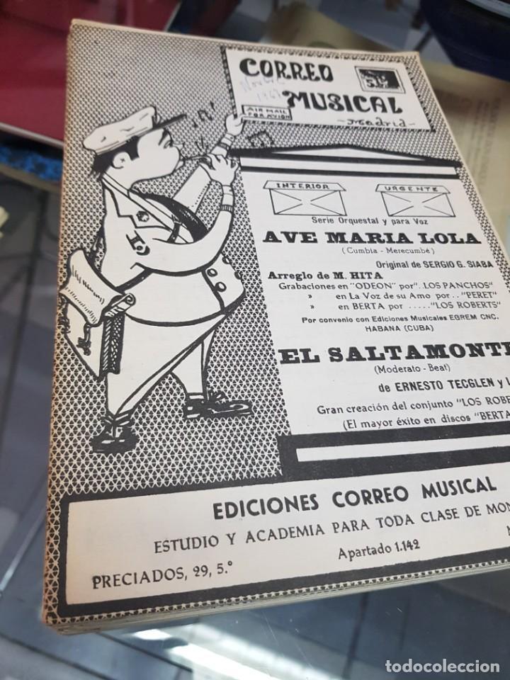 LOTE ANTIGUAS PARTITURAS EDICIONES CORREO MUSICAL (Música - Partituras Musicales Antiguas)