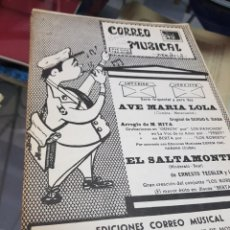 Partituras musicales: LOTE ANTIGUAS PARTITURAS EDICIONES CORREO MUSICAL. Lote 244828875