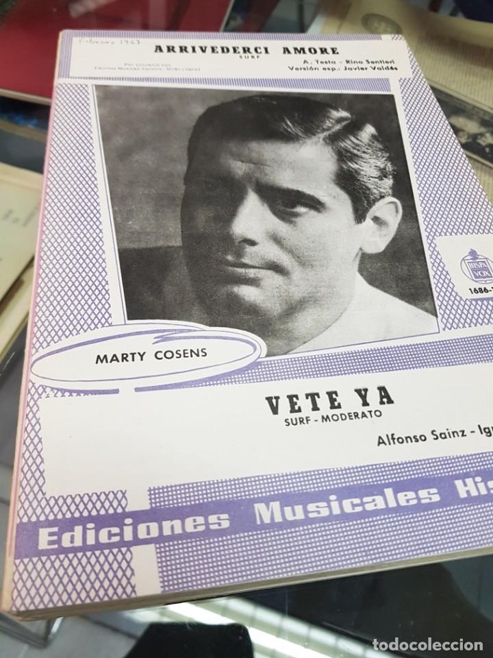 LOTE ANTIGUAS PARTITURAS EDICIONES MUSICALES HISPAVOX (Música - Partituras Musicales Antiguas)