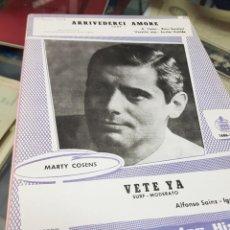 Partituras musicales: LOTE ANTIGUAS PARTITURAS EDICIONES MUSICALES HISPAVOX. Lote 244829705