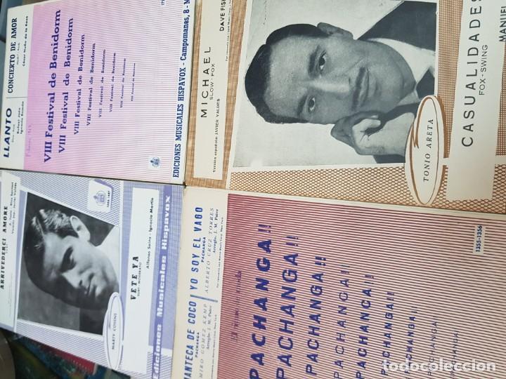Partituras musicales: LOTE ANTIGUAS PARTITURAS EDICIONES MUSICALES HISPAVOX - Foto 4 - 244829705