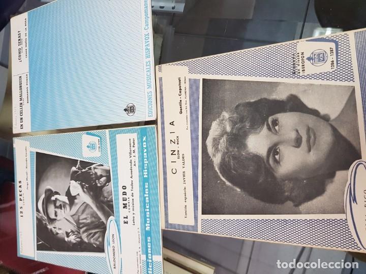 Partituras musicales: LOTE ANTIGUAS PARTITURAS EDICIONES MUSICALES HISPAVOX - Foto 5 - 244829705