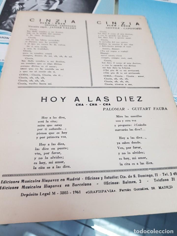Partituras musicales: LOTE ANTIGUAS PARTITURAS EDICIONES MUSICALES HISPAVOX - Foto 6 - 244829705