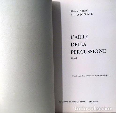 Partituras musicales: Larte della percussione (2). Metodo (Partitura) Tambor, Bateria, Xilófono, Marimba, Etc. - Foto 3 - 244856565