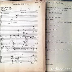 Partituras musicales: J. PEIXINHO : CORAÇAO HABITADO (POEMAS DE EUGÉNIO DE ANDRADE) MAFRA, LISBOA, 1966. PARTITURA MANUSCR. Lote 244857820