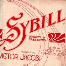 Partituras musicales: VICTOR JACOBI : SYBILL - VALSES SOBRE MOTIVOS (UNIÓN MUSICAL, 1915). Lote 244887110