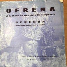 Partituras musicales: HIMNO OFICIAL DE LA VIRGEN DE LOS DESAMPARADOS. Lote 245488575