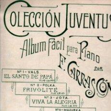 Partituras musicales: F. CARRASCON : CUATRO PIEZAS FÁCILES PARA PIANO (RICARDO RODRÍGUEZ, S. F.). Lote 245942860