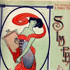 Partituras musicais: M. COSTA DEQUIDT : SIMPATIA - MAZURCA PARA PIANO (JOAQUIN MORA, S. F.). Lote 245945215