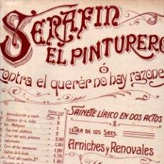 Partituras musicales: FOGLIETTI Y ROIG : SERAFIN EN PINTURERO - FOX TROT CHULESCO (FAUSTINO FUENTES, S. F.). Lote 245947020